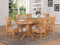 7-PC VANCOUVER OVAL DINETTE KITCHEN DINING TABLE w/6 ...