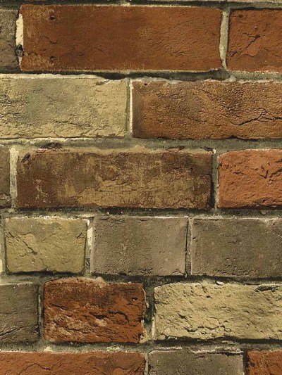 Wallpaper Faux Rust Tuscan Brick Wall, Looks Real Up! | eBay