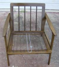 Vintage Mid Century Modern Wood Danish Chair Made In ...
