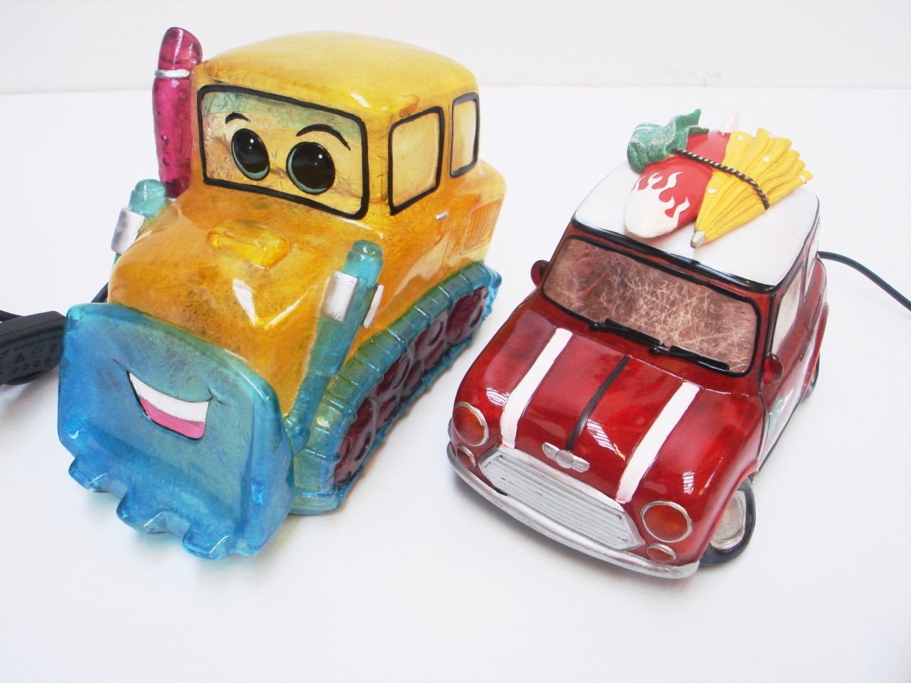 Childrens Bedside Lights Novelty Kids Bedside Night Light Table Lamp Jcb Digger Or