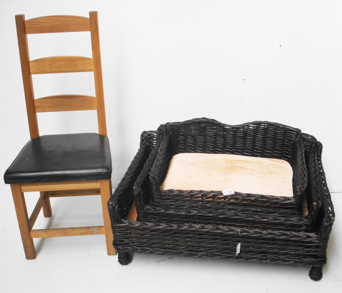 Big Cushy Chair Giant Huge Big Xl Wicker Willow Pet Bed Basket Sofa Couch
