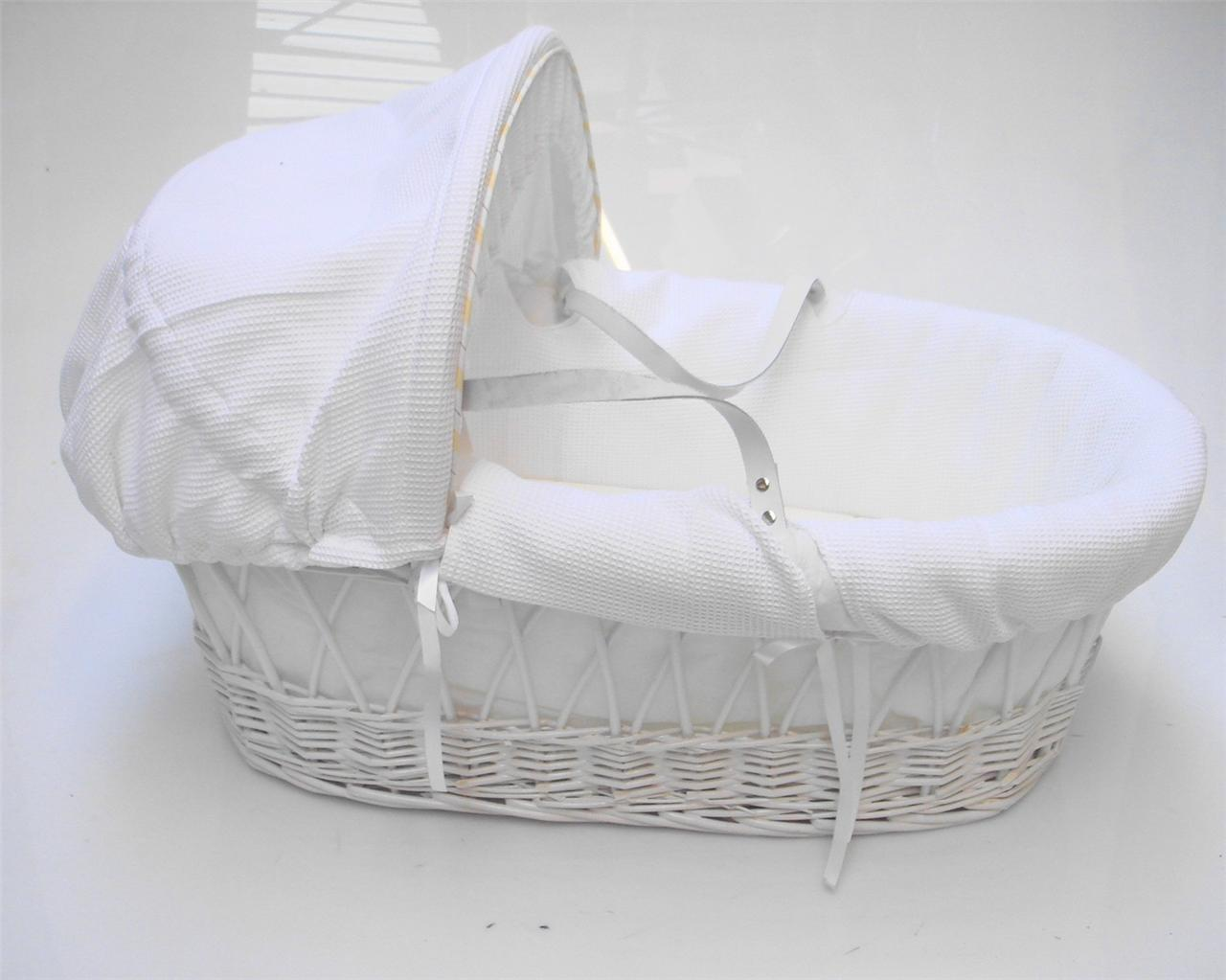 Baby Basket Bassinet Strong Portable Travel Wicker New Baby Babies Bassinet Cot
