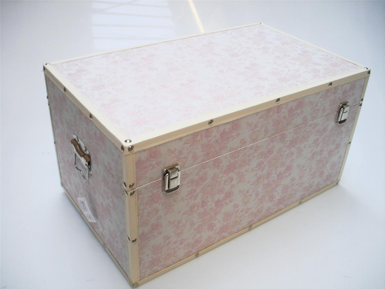 Bedroom Storage Boxes Rose Flower Design Baby Nursery Kids Bedroom Wooden