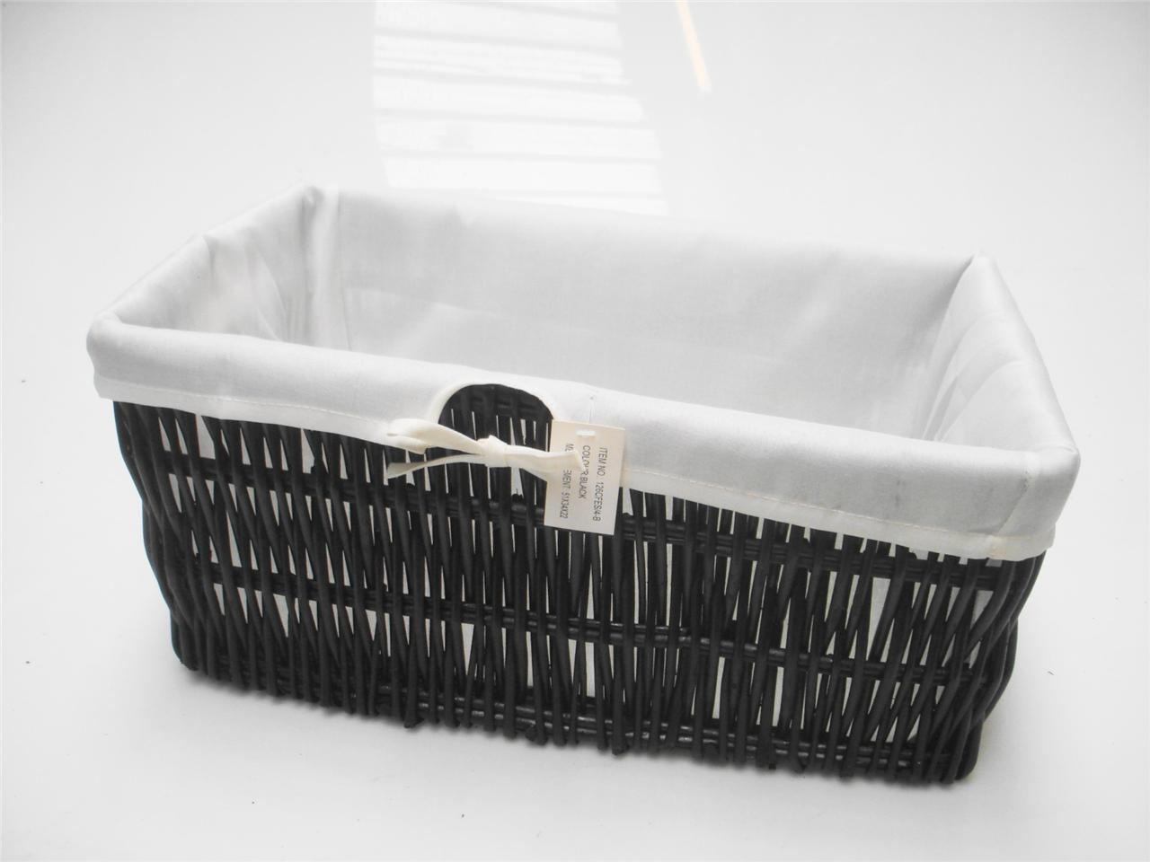 Black Wicker Hamper Black Wider Wicker Kitchen Toy Cupboard Storage Basket