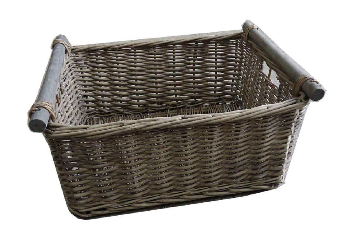 Fancy Baskets Kitchen Log Decorative Full Wicker Storage Basket Xmas