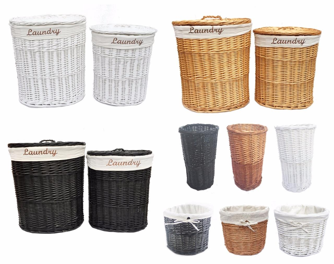 Dark Brown Wicker Laundry Basket Brown White Black Oval Wicker Laundry Basket With Lid
