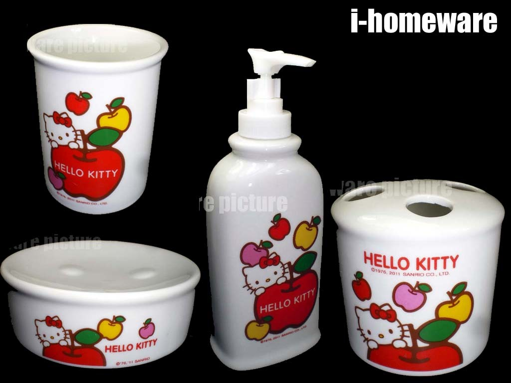 Toilet Accessoires Set : Bathroom soap and lotion set premium 4pc bath accessory set lotion