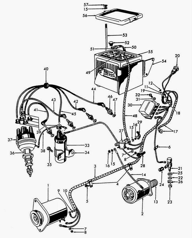 ford 4000 wiring diagram 12v