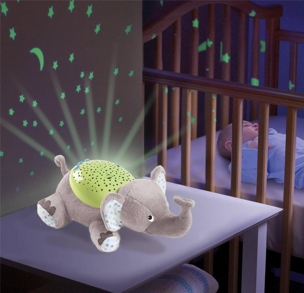 Boys Room Night Light Baby Musical Cot Mobile Night Light Projector Nursery