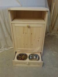 Pet Food Cabinet Storage Organizer Dog / Cat Feeding ...