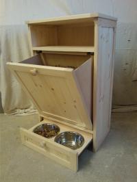 Pet Food Cabinet Storage Organizer Cat / Dog Feeding ...