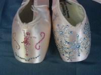 Cappezio Pointe Shoes Ballet Slippers Decorative Blinged ...
