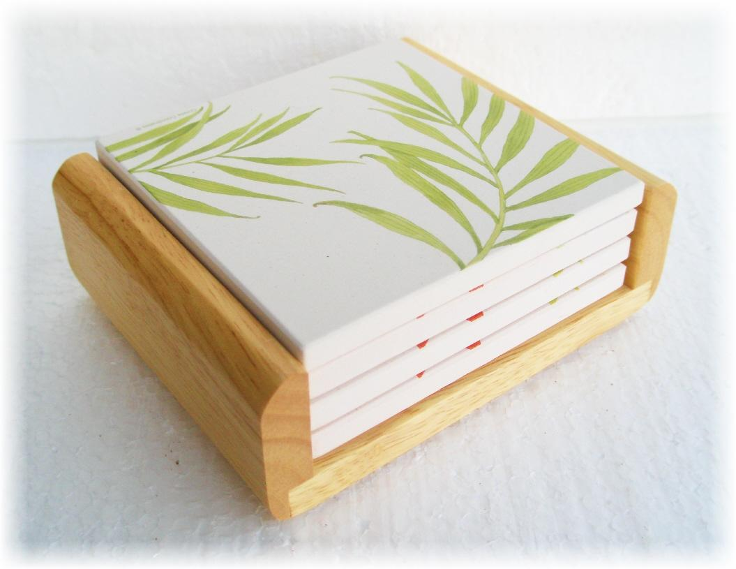 Square Coasters For Drinks 4 Corelle Square Stoneware Drink Coaster Set 43oak Wood