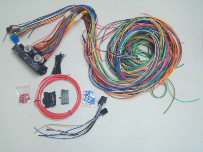12v 24 Circuit 15 Fuse Street Hot Rat Rod Wiring Harness Wire Kit
