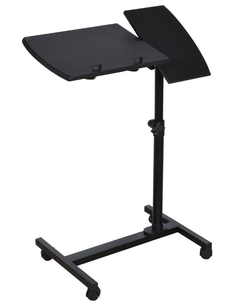 Adjustable Angle & Height Rolling Laptop Desk Table Stand
