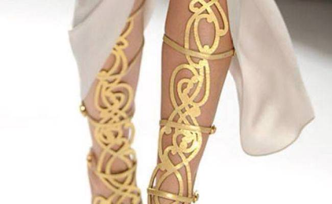 Breckelle's Diva 36 Strappy Knee High Shaft Stiletto Heel Gladiator Sandal • New