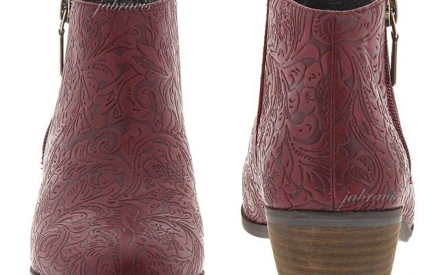 Very Volatile • Fairchild Tooled Embossed Ankle Boot Bootie Wine Red 7.5 M • New | Ebay