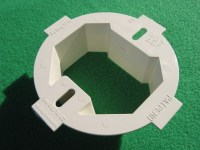 ROUND OCTOGONAL CEILING ELECTRICAL BOX EXTENDER 1