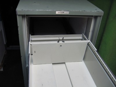 VICTOR FIRE MASTER LOCKING 4 DRAWER DOCUMENT FILE FILING
