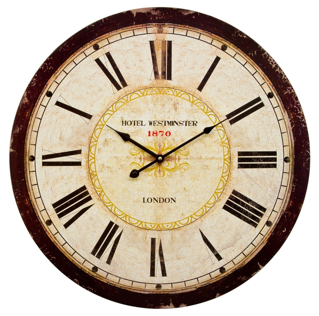 Extra Large Wooden Wall Clock 60cm Extra Large Wooden Wall Clock Vintage Retro Antique
