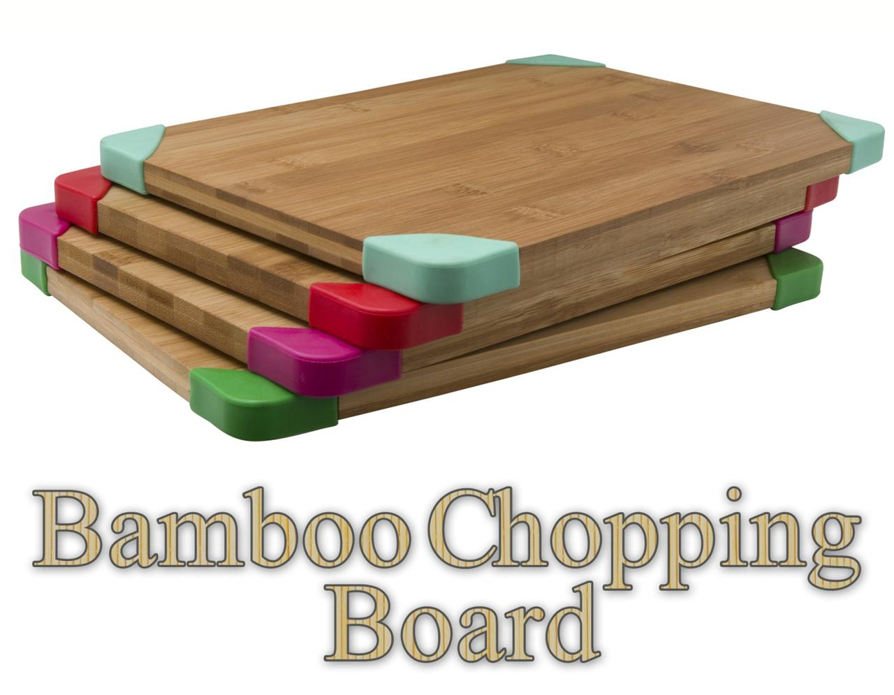 Plastic Cutting Board Countertop Bamboo Chopping Board Cutting Dicing Kitchen Ware