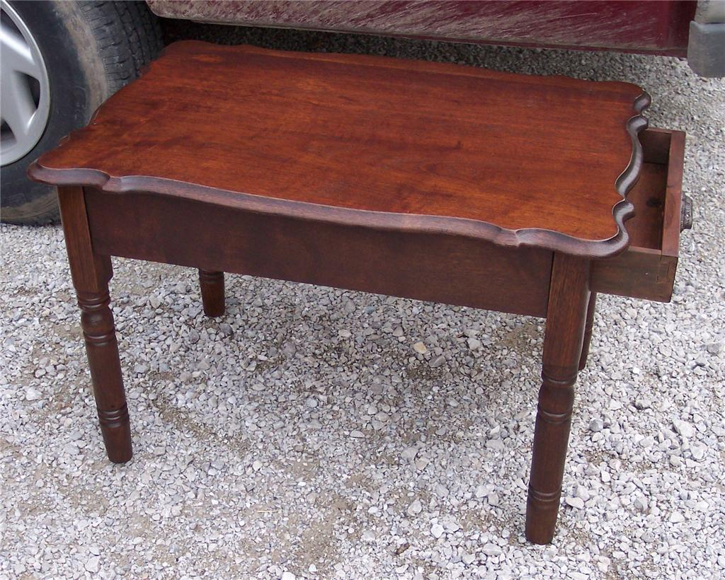 Oak Side Table With Drawer Oak End Table Side Table With Drawer T211 Ebay