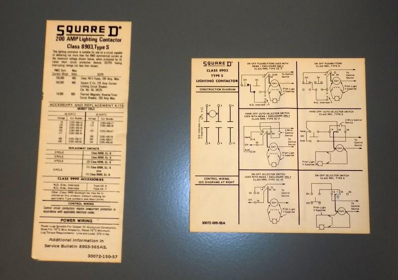 SQUARE D CLASS 8903 200A LIGHTING CONTACTOR ENCLOSURE TYPE SVG 2 SER