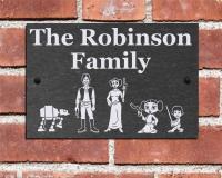 Door Plaques Slate & Personalized Front Door Plaques Image ...