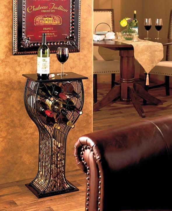 New Wine Glass Shaped Table Wine Bottle & Cork Storage