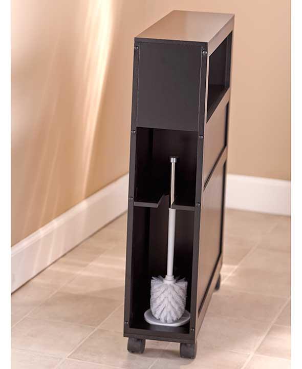 NEW Rolling Slim Bathroom Storage Organizer Cabinet Toilet