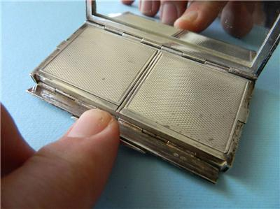 Art Deco Sterling Silver Powder & Rouge Compact Enamel French London Import 1925   eBay