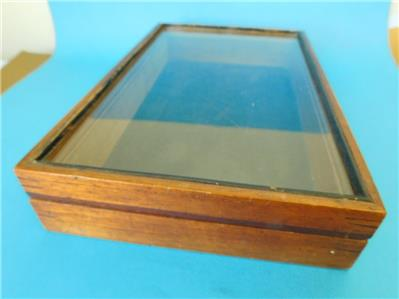 Small Antique Table Top Display Case Glass Fronted Jewelry