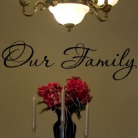 Our Family Vinyl Lettering Wall Saying Art Walls Decal | eBay