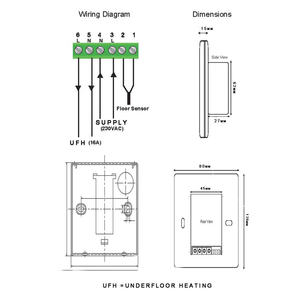 wiring a underfloor heating thermostat