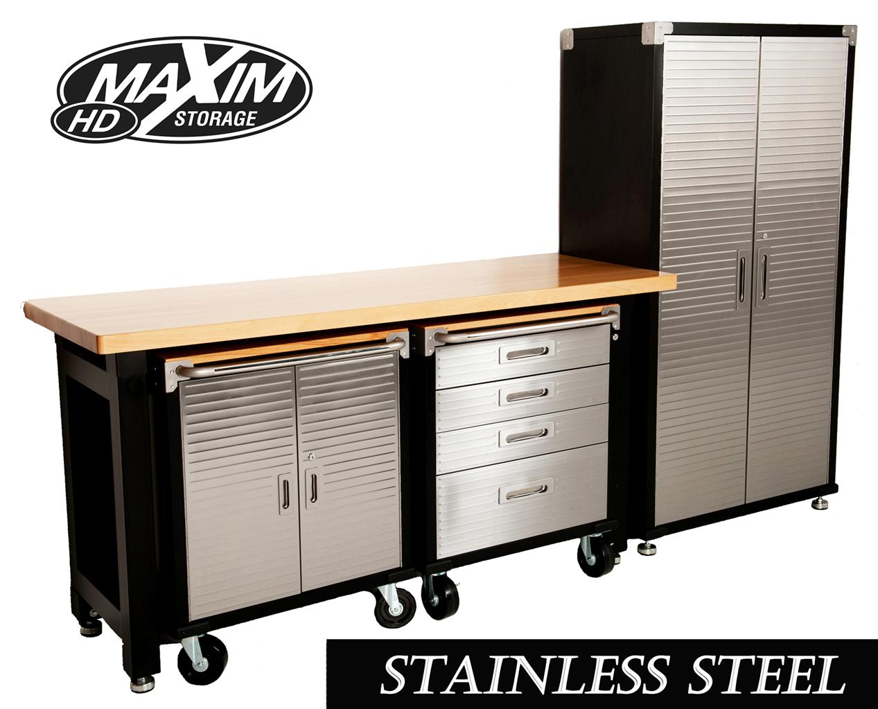 Garage Workbench And Storage Maxim Garage Storage System Workbench Cabinet Toolbox Shed