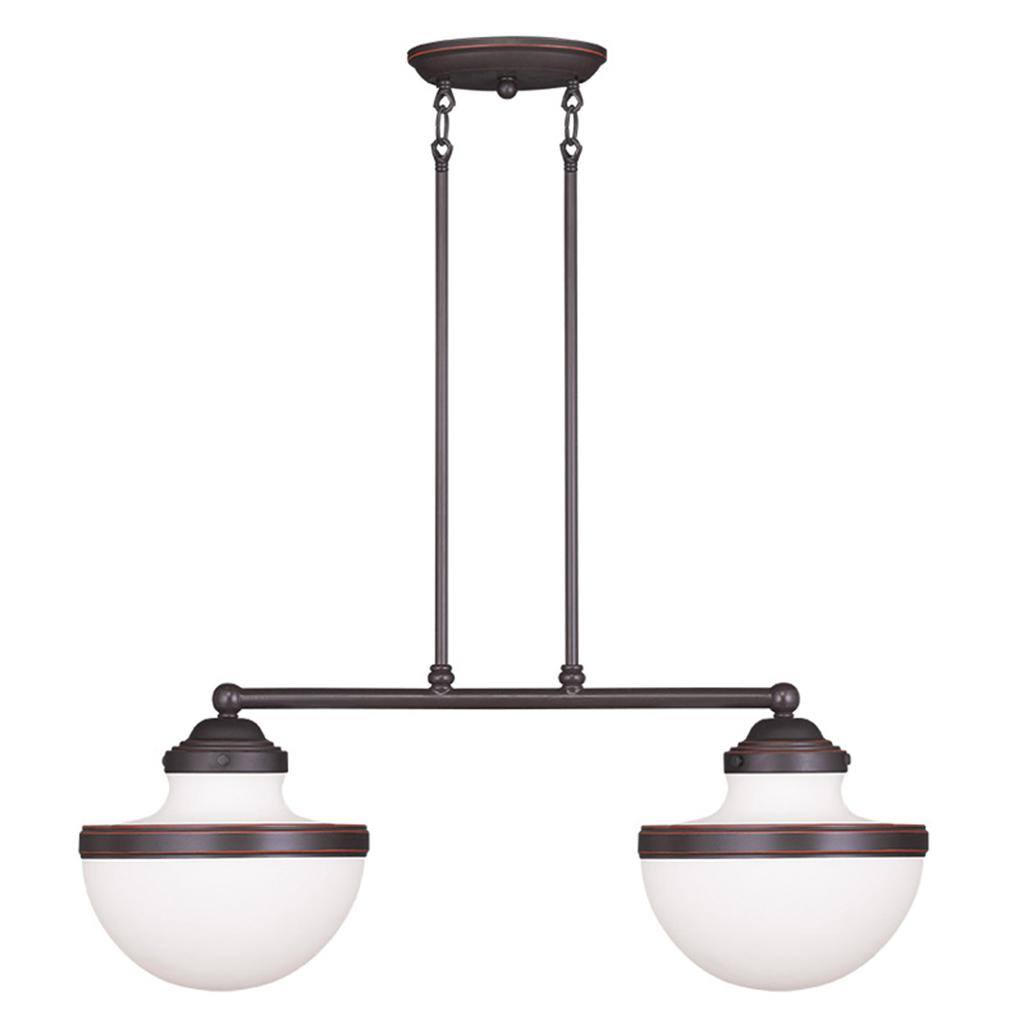 Modern Island Lighting Oldwick Modern Livex Olde Bronze 2 Light Kitchen Island