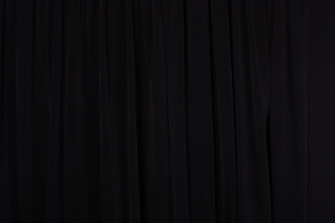 Schwarzer Vorhang Extra High Stage Studio Backdrop Drapery Black Velvet 16