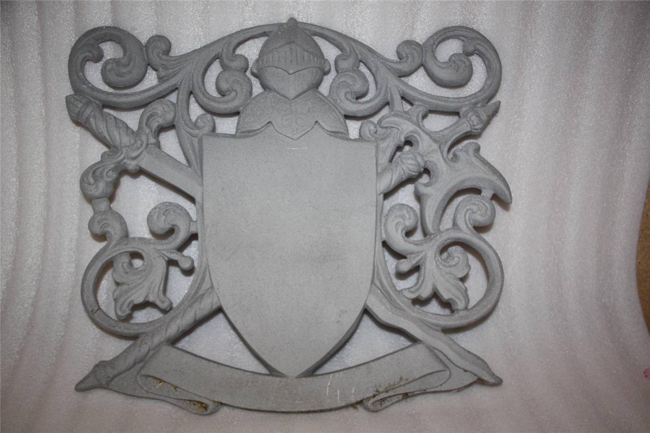 Sword Wall Plaques Coat Of Arms Cast Metal Wall Plaque Swords Knight Medieval