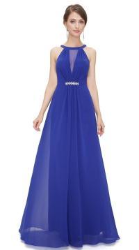 BNWT ORLA Cobalt Blue Chiffon Maxi Prom Evening Bridesmaid
