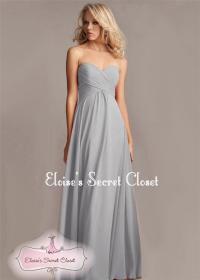 BNWT ELSA Silver Grey Chiffon Prom Bridesmaid Occasion ...