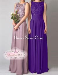 Cadbury Purple Bridesmaid Dresses Ebay - Flower Girl Dresses