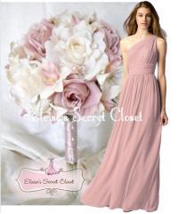 Dusky Pink Chiffon Bridesmaid Dresses Uk - Flower Girl Dresses