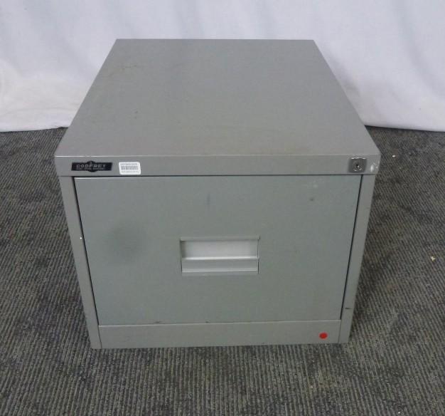 Godfrey Single Drawer Filing Cabinet Olive Metal 25792/26