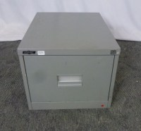 Godfrey Single Drawer Filing Cabinet Olive Metal 25792/26 ...