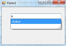 drop-down textbox