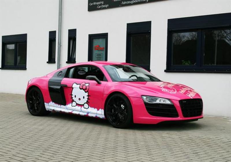 Hello Kitty Cute Sanrio Wallpaper Audi R8 V10 Racingone Candy Pink Hello Kitty Design Por
