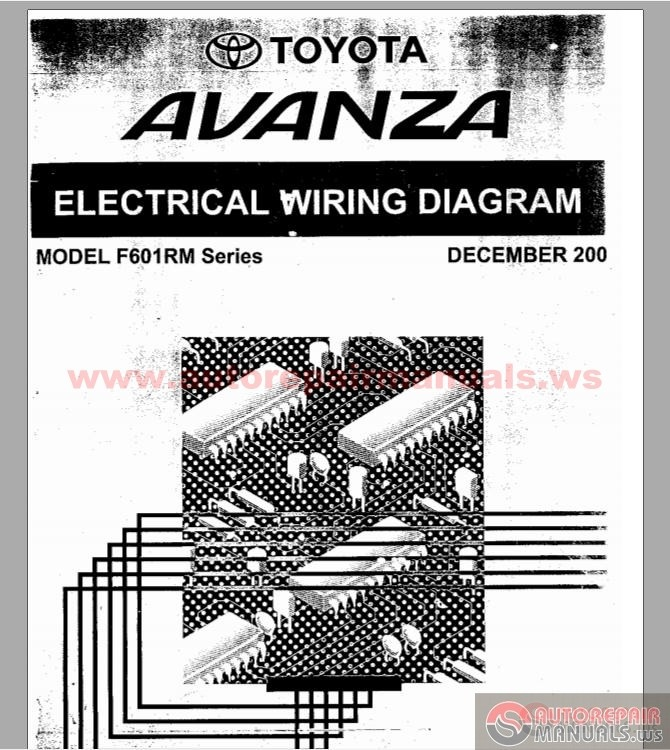 electrical wiring diagram toyota avanza