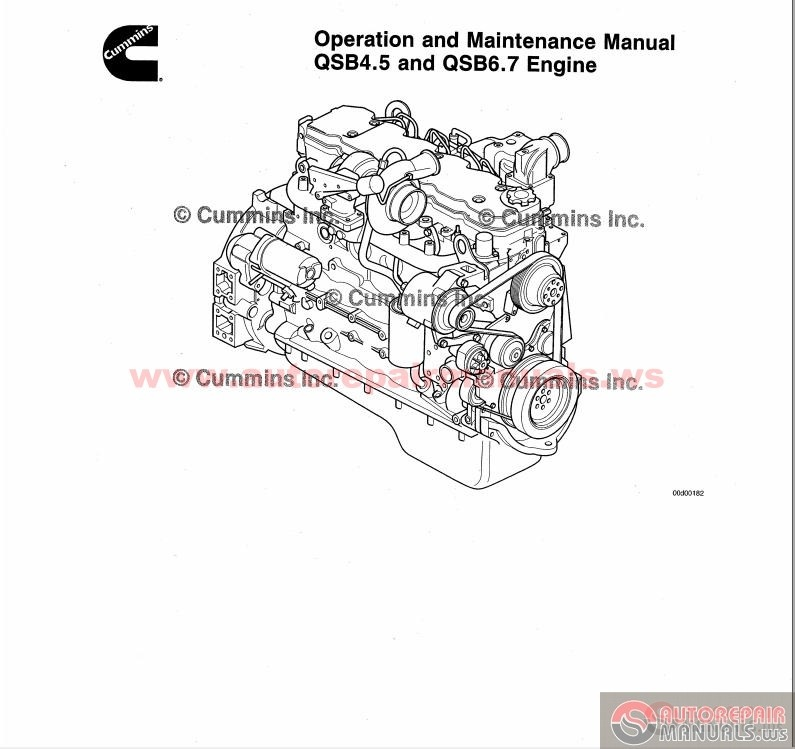 Cummins QSB45  QSB67 Engine Operation  Maintenance Manual Auto
