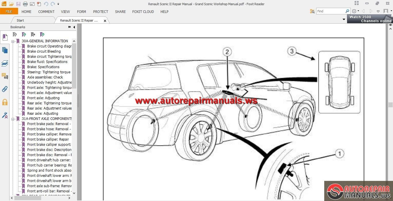 renault megane ii workshop wiring diagram