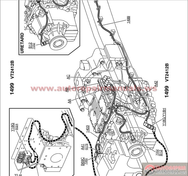 volvo fh12 fh16 lhd truck wiring diagram march 1996